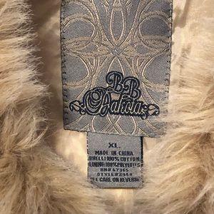 BB Dakota Jackets & Coats - BB Dakota Corduroy Faux Fur Trim Cream Jacket